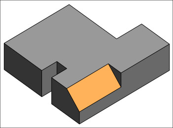Figure 18. A family component with a slanted surface.