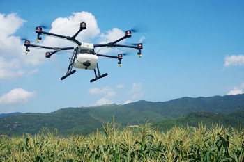 The Agras MG-1. (Image courtesy of DJI.)