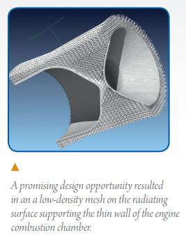 ESA's innovative combustion chamber mesh design.