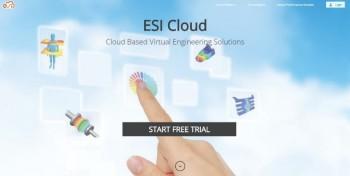 Screenshot of the ESI Cloud Login Screen. (Image courtesy of ESI Group.)