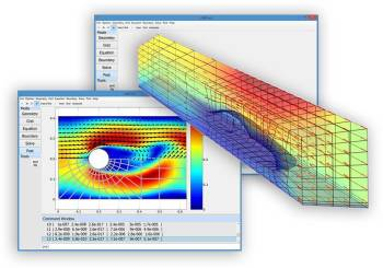 CFD analysis using FEATool in MATLAB. (Image courtesy of Precise Simulation.)