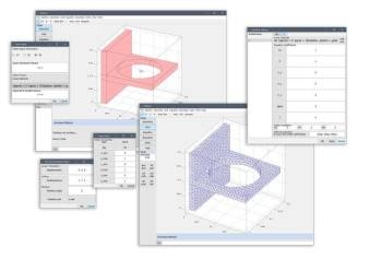 FEATool graphical user interface for multiphysics FEA simulations. (Image courtesy of Precise Simulation.)