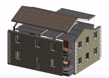 A 3D expanded view of a structure. (Image courtesy of GRAITEC.)