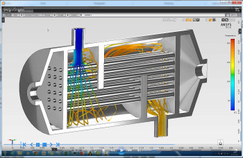 Thermal mixer simulation. (Image courtesy of ANSYS.)
