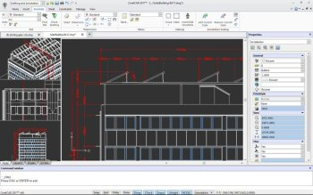 A look at CorelCAD 2017's updated 2D drafting tools. (Image courtesy of Corel.)
