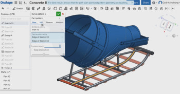 The Curve Pattern tool headlines Onshape's yearend release.