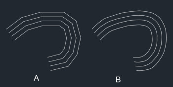 Contour Line Drawing In Autocad : Contours for geometric layout of road dwg block autocad