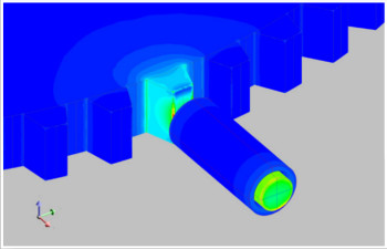 Proximity sensor designed in Flux 3D. (Image courtesy of Altair.)