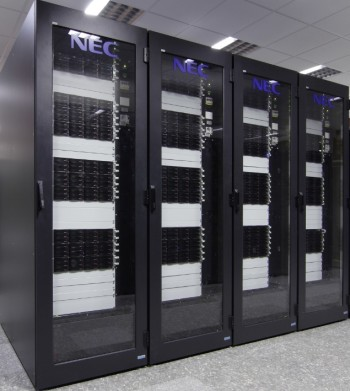 A cluster computer.