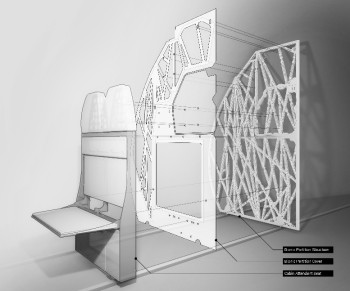 Airbus' generatively designed aircraft partition. (Image Courtesy of Airbus)