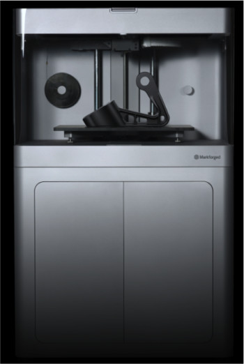 The Markforged is bigger, more precise and has built-in quality control mechanisms. (Image courtesy of Markforged.)