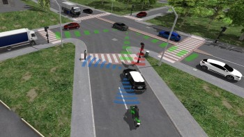 ESI Pro-SiVIC lets engineers model how a sensor would perceive its surroundings and how its smart product would react to the gathered data. (Image courtesy of ESI Group.)