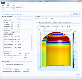 Take the garbage in out of the equation. CAE experts can make those simulation apps idiot proof by limiting the inputs and value ranges. Simplified high-quality simulation is analyst approved! (Image courtesy of COMSOL.)