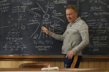 Stellan Skarsgård plays astrophysicist Prof. Erik Selvig in Thor, image courtesy of Marvel Movies. UCLA consultants from the Science and Entertainment Exchange helped on ensure the set and script were accurate.