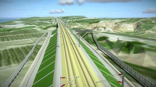 Beijing to Zhangjiakou High-speed Rail Project. (Image courtesy of Bentley.)