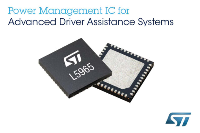 L5965 power management device. (Image courtesy of STMicroelectronics.)