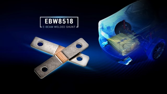 EBW8518 shunt resistor. (Image courtesy of TT Electronics.)