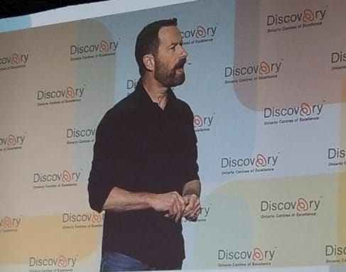 Duncan Wardle, former head of Innovation & Creativity at Disney, giving a keynote presentation at Discovery 2019.