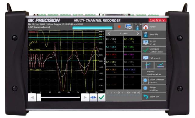 DAS220-BAT data recorder. (Image courtesy of B&K Precision.)