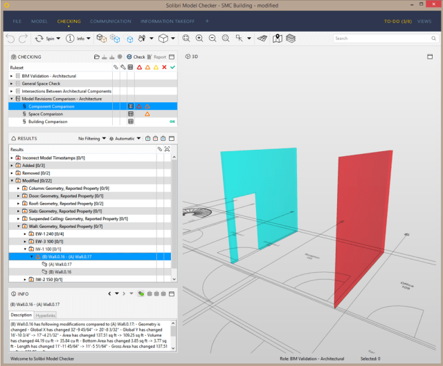 A better connection between Solibri and ArchiCAD will let users more easily look at issues across the two platforms. (Image courtesy of Solibri