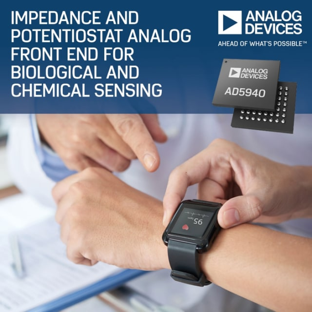 AD5940 analog front end. (Image courtesy of Analog Devices.)