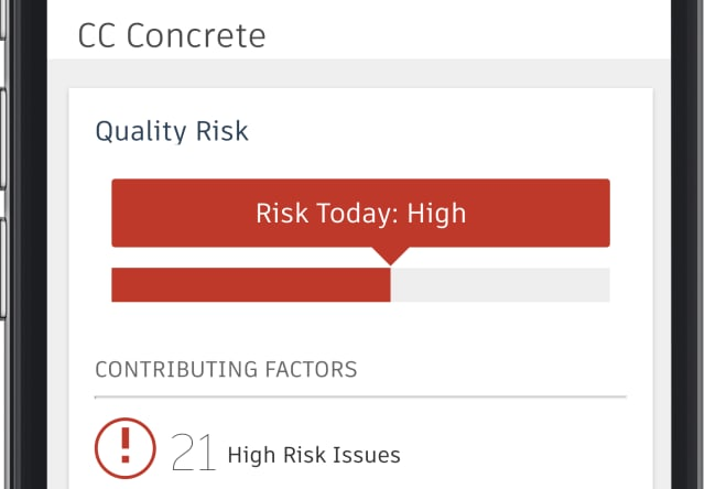 Construction IQ incorporates a set of algorithms trained to detect which issues are the most important. (Image courtesy of Autodesk.)