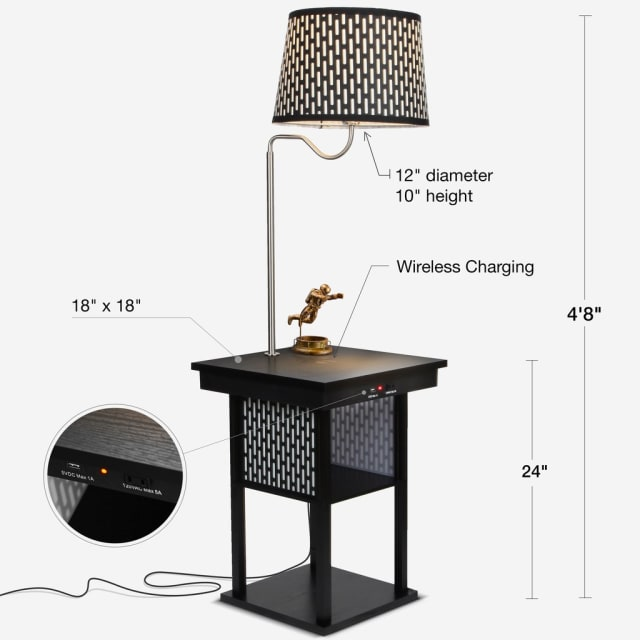 Figure 3. More details on the Madison Nightstand. (Image courtesy of Brightech.)