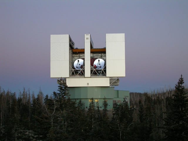 The Large Binocular Telescope in Arizona.