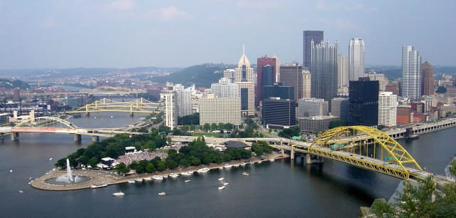 Pittsburgh, PA. Source: Bobak Ha'Eri via Wikipedia
