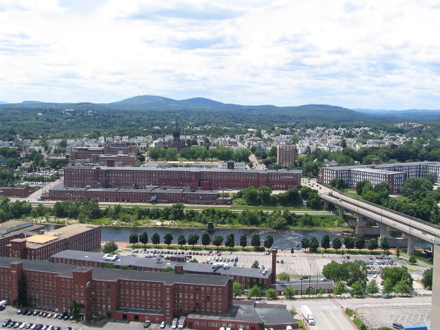Former textile mills of the Amoskeag Manufacturing Company in Manchester, NH.