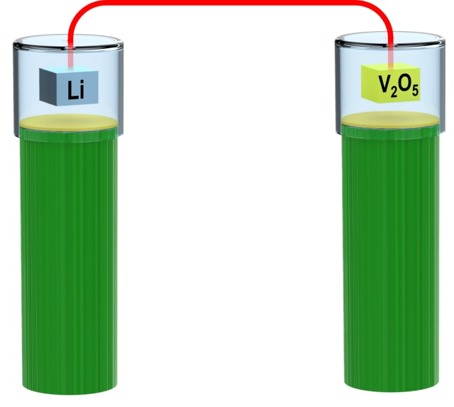 Diagram of the inverted battery. (Image courtesy of the University of Maryland.)
