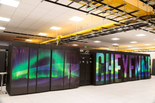 Cheyenne supercomputer. (Image courtesy of Carlye Calvin.)