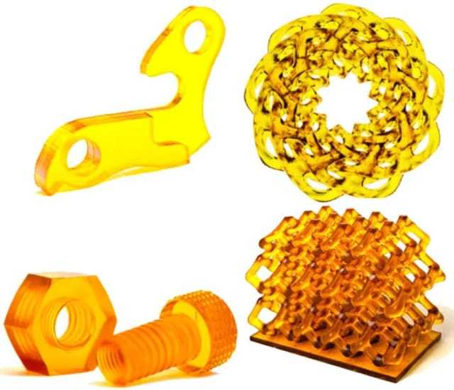 Parts printed with COR Alpha. (Image courtesy of Wevolver.)