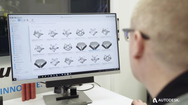 Using Fusion 360 Generative Design. (Image courtesy of Autodesk.)