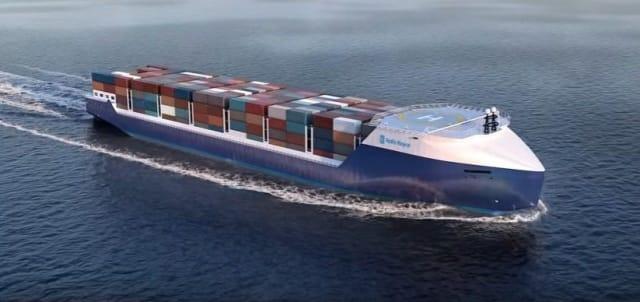 Autonomous marine vessel rendering. (Image courtesy of Rolls-Royce.)