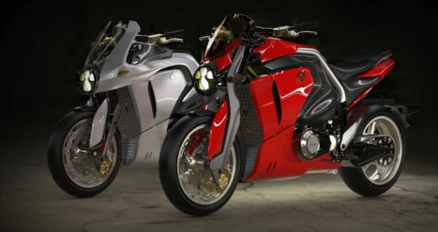 The Soriano Giaguaro motorcycles have 15kWh or 20kWh battery packs and do not seem to be made for traveling long distances. The distance specs are just 75-100 miles (120-160km). (Image courtesy of Soriano Motori Corp.)