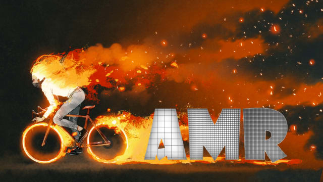 Avid cyclist Vincent Lister, who is also a technical product manager at Siemens, demonstrates adaptive mesh refinement in a combustion simulation in the best way he knows. (Image courtesy of Siemens.)