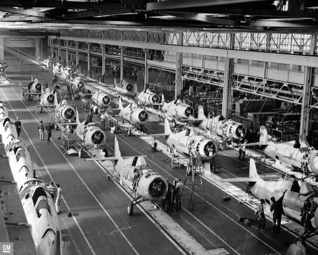 Obsolete, but still useful. General Motors took over production of F4F fighter planes from Grumman when that firm switched to the F6F. They eventually built three times more than Grumman without interrupting Grumman's assembly lines.