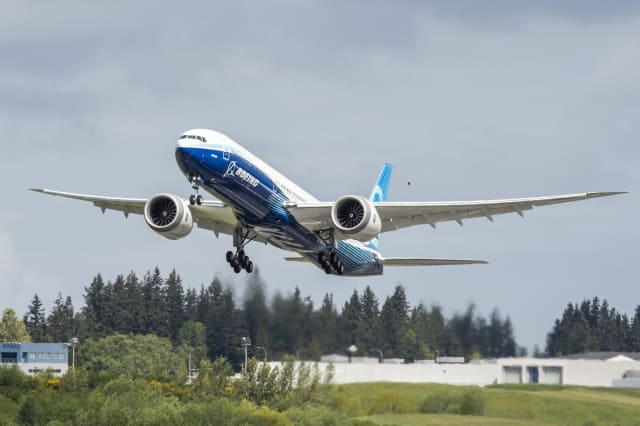 This new 777X is highly fuel efficient and should be a highly profitable product for Boeing, if COVID-19 doesn't kill the airlines that buy it. (Image courtesy of Boeing.)