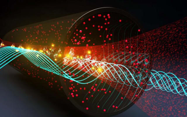 The U.S. Army created a quantum sensor to detect communication signals over an entire radio frequency spectrum (0 to 100 GHz). (Image courtesy of DefenceTalk.)