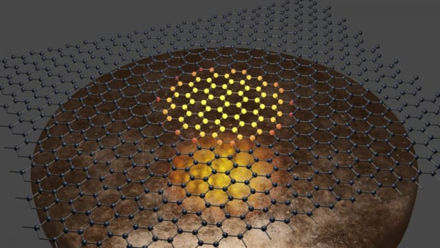 Graphene's thermal response to microwave radiation was key to the new bolometer. (Image courtesy of U.S. Army CCDC Army Research Laboratory.)