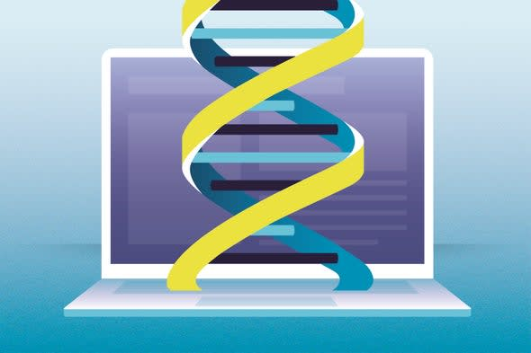 Whole-genome synthesis as an extension of synthetic biology, which is mediated by software, makes it possible to print larger swaths of DNA. (Image courtesy of Scientific American)