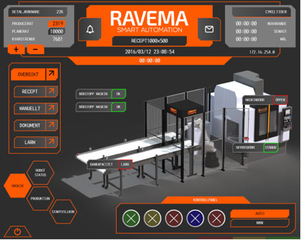 SMART AUTOMATION. Ravema's Smart Automation solution offers robot programming integrated in the Mazak Smooth interface.