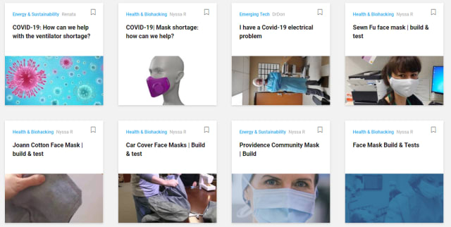 Make: Projects related to COVID-19.