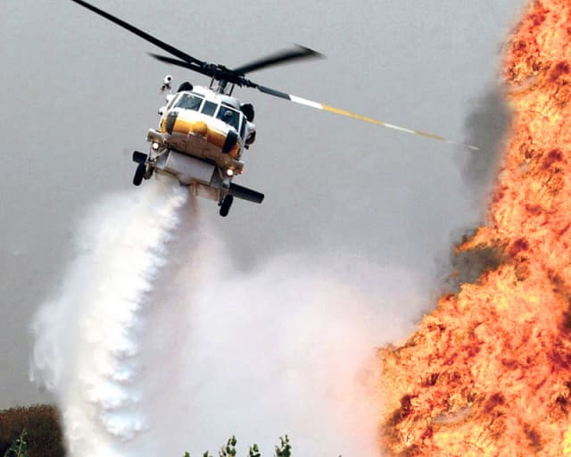 San Diego Fire Department Will Use a Black Hawk Helicopter