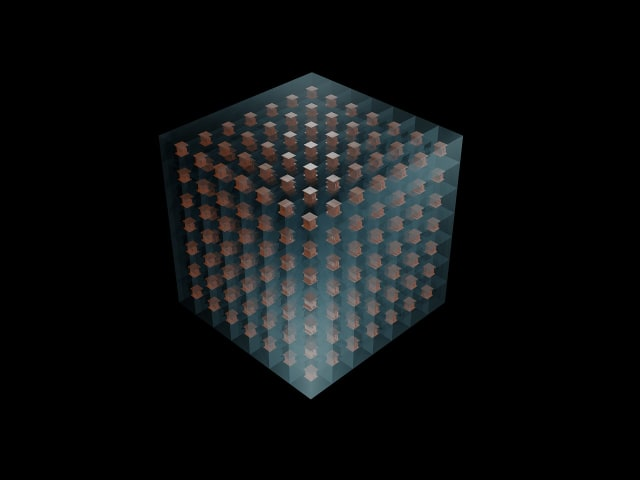 An illustration of how 3-D-printed metamaterial unit cells could be combined like Lego blocks to create structures that bend or focus microwave radiation more powerfully than any material found in nature. (Image courtesy of Abel Yangbo Xie/Duke University.)