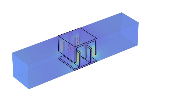 Experiments and simulations show that the 3-D printed cubes interact with electromagnetic waves 14 times more strongly than their 2-D counterparts. (Image courtesy of Duke University.)