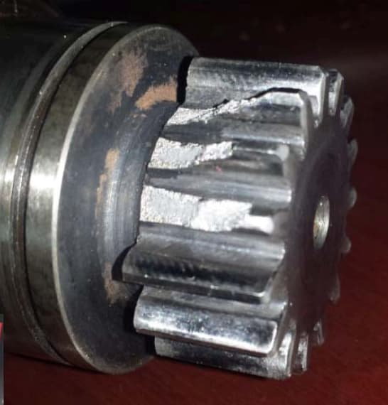 Broken gear for a German Knapp rack mill. (Image courtesy of Hansford Parts and Products.)