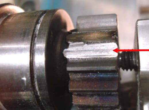 Gear shaft after the broken teeth were removed and the base diameter undercut. (Image courtesy of Hansford Parts and Products.)