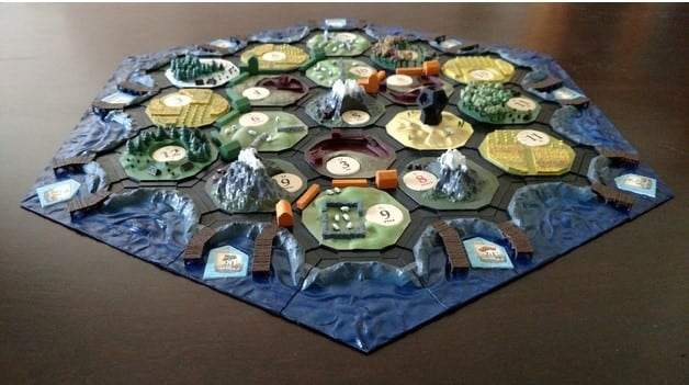 A 3D-printed board for Settlers of Catan. (Image courtesy of Thingiverse/Mystik738.)